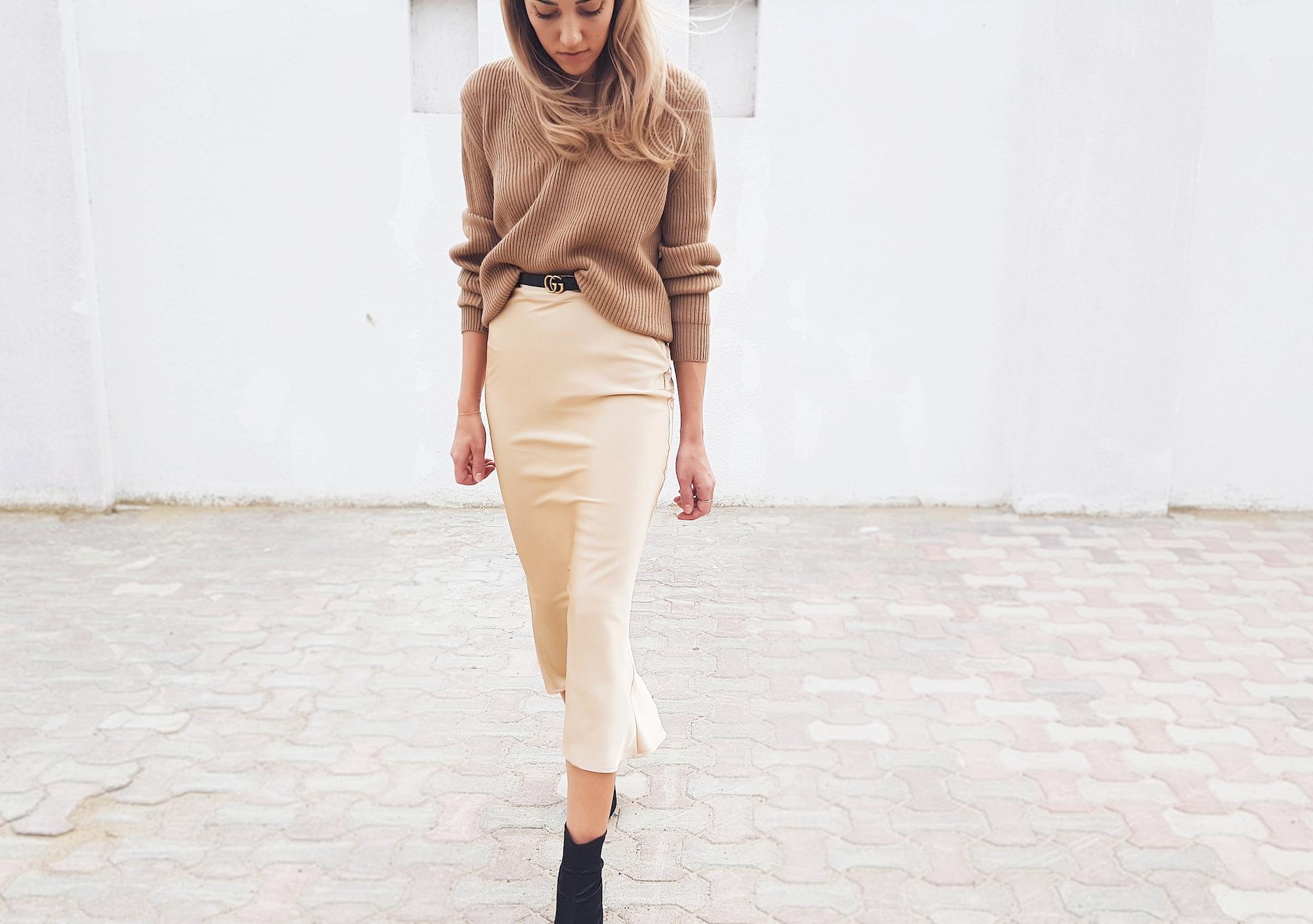 Trends: Bias Cut Silk Slip Skirt